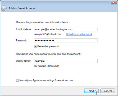 How To Setup Your Email In Windows 7 Enet Technologies
